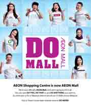 AEON Shopping Centre is now AEON Mall